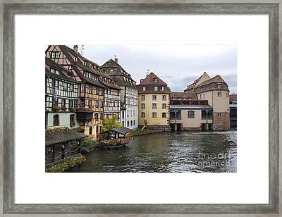 Canals Of Strasbourg Framed Print by Yefim Bam