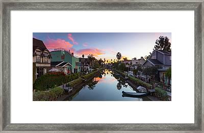 Canals Of Venice Beach Framed Print