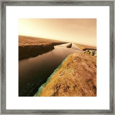 Canals On Mars Framed Print by Detlev Van Ravenswaay