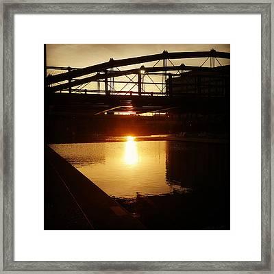 Canalside Dawn No 4 Framed Print