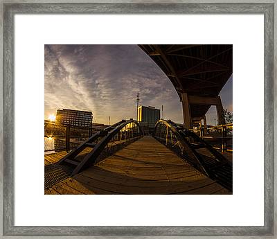 Framed Print featuring the photograph Canalside Dawn No 5 by Chris Bordeleau
