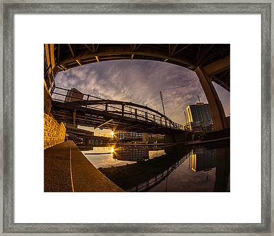 Framed Print featuring the photograph Canalside Dawn No 6 by Chris Bordeleau