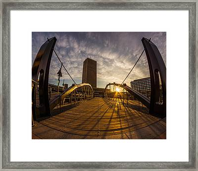 Framed Print featuring the photograph Canalside Dawn No 7 by Chris Bordeleau