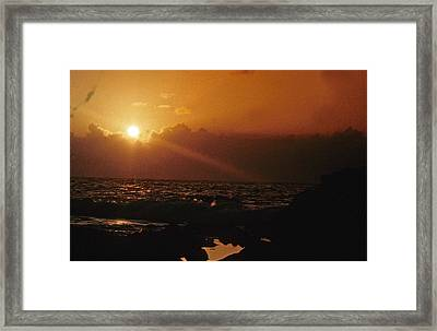 Canary Islands Sunset Framed Print by Gary Wonning