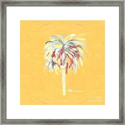 Canary Palm Tree Framed Print
