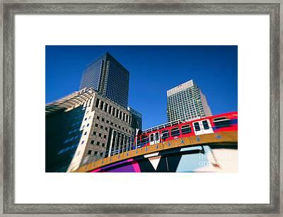 Canary Wharf Commute Framed Print