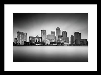 Canary Wharf Photographs Framed Prints