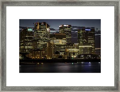 Framed Print featuring the photograph Canary Wharf by Ryan Photography