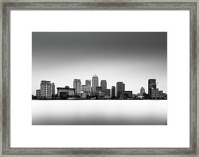 Canary Wharf Skyline Framed Print by Ivo Kerssemakers