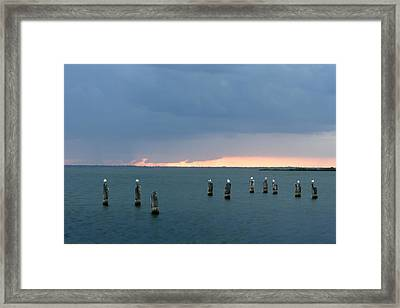 Canaveral Sunset Framed Print by Eric Foltz