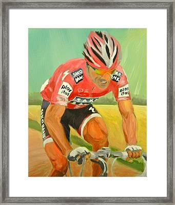 Cancellara Wins Roubaix Framed Print by James Lopez
