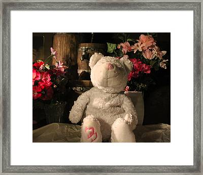 Cancer Bears Care Framed Print by Connie Levien
