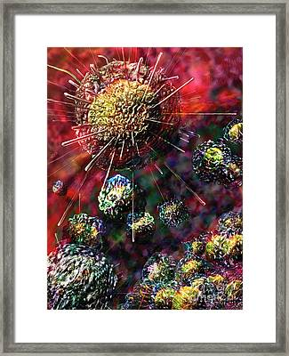 Cancer Cells Framed Print