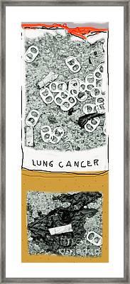 Cancer Stick Framed Print by Joe Jake Pratt