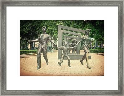 Cancer Survivors Plaza Dallas Framed Print