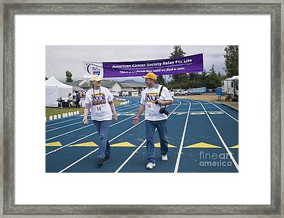 Cancer Walk Relay For Life Framed Print by Inga Spence