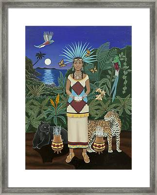 Cancer / Xochiquetzal Framed Print