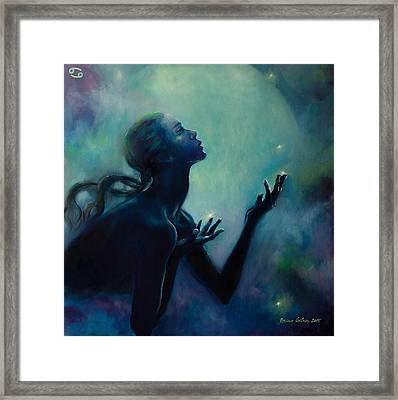 Cancer Zodiac Sign Framed Print by Dorina  Costras