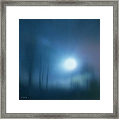 Cancerian Moon Framed Print by Nita Sweeney
