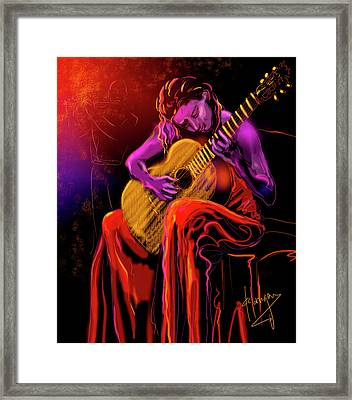 Cancion Del Corazon Framed Print
