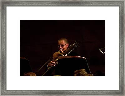 Framed Print featuring the photograph Cancon Primi Toni - Trombone by Miroslava Jurcik