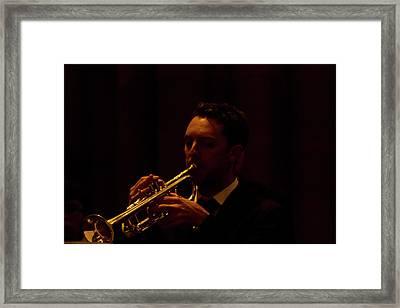 Framed Print featuring the photograph Cancon Primi Toni - Trumpet by Miroslava Jurcik