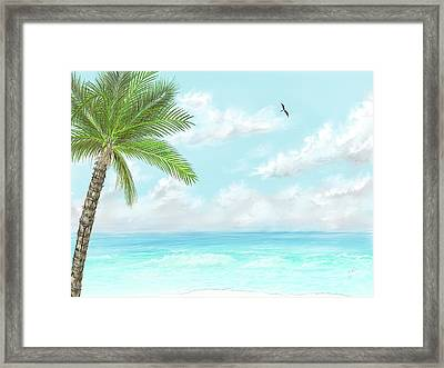 Framed Print featuring the digital art Cancun At Christmas by Darren Cannell