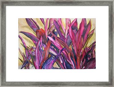 Cancun Fires Framed Print
