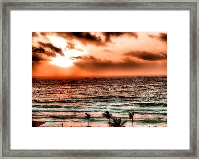 Cancun Sunrise 3 Framed Print