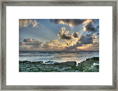 Cancun Sunrise A Morning In Heaven Framed Print