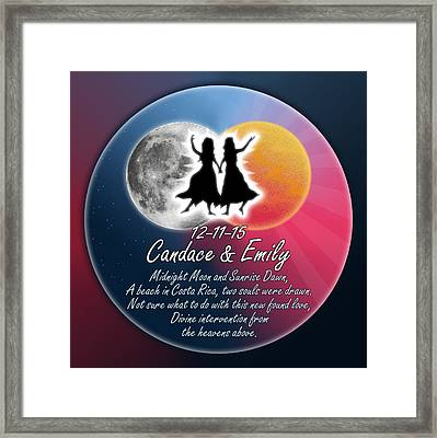 Candace And Emily Framed Print