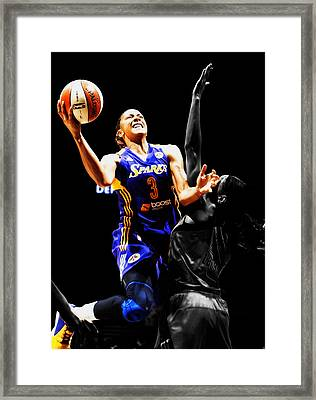 Candace Parker Framed Print by Brian Reaves