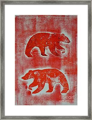 Candadian Bears Two  Framed Print