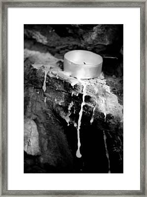 Candel Framed Print by Calinciuc Iasmina