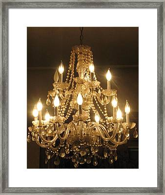 Candelabra Chandelier Framed Print by Hasani Blue
