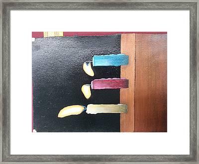 Candels Framed Print