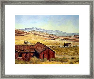 Canderia Nevada Framed Print by Evelyne Boynton Grierson