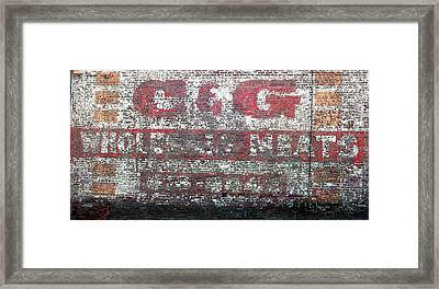 Candg Meats Framed Print by Jame Hayes