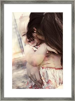 Candid Little Girl With Mother In The Autumn Park Framed Print by Jorgo Photography - Wall Art Gallery