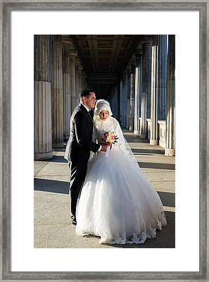 Candid Wedding Shot Framed Print