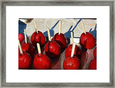 Candied Apples Framed Print by Allen Beatty