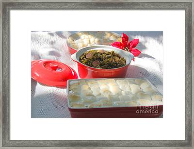 Candied Yams And Southern Greens Framed Print