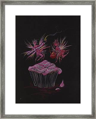 Candle Cherry Framed Print by Dawn Fairies
