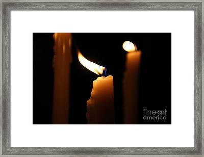 Candle Close Up Framed Print by Marina McLain