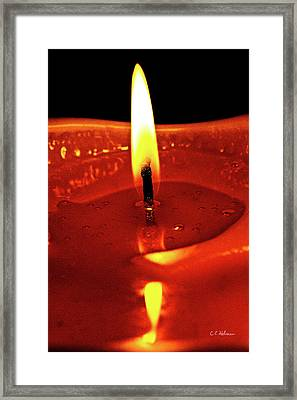 Candle Flame Framed Print by Christopher Holmes