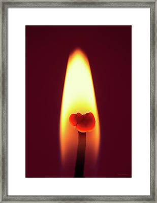 Candle Flame Macro Framed Print by Wim Lanclus