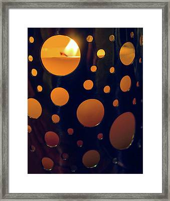 Framed Print featuring the photograph Candle Holder by Carlos Caetano