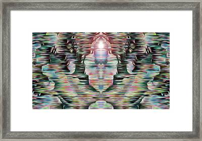 Framed Print featuring the digital art Alignment by Mark Greenberg