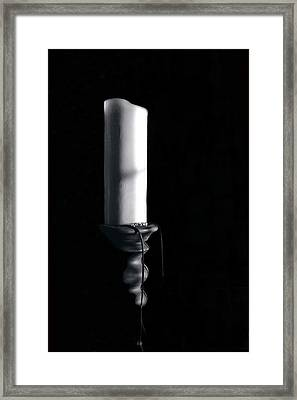 Candle In Shadow Framed Print by Barry Shaffer