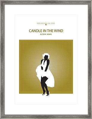 Candle In The Wind -- Elton John Framed Print
